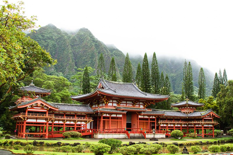 Byodo-In Temple Kahaluu, Oahu, Hawaii